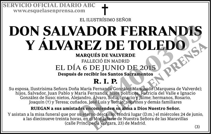 Salvador Ferrandis y Álvarez de Toledo